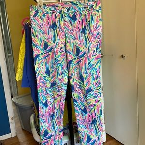 EUC kelly skinny ankle pants in travelers palm